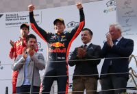 F1 GP AUT 2018 Verstappen Podium (c) GEPA Pictures Red Bull