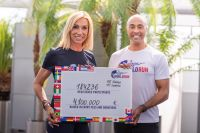 Anita Gerhardter und Colin Jackson (c) Wings for Life World Run